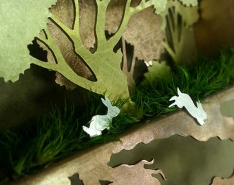 Rabbit sculpture, wall art or fine art jewelry
