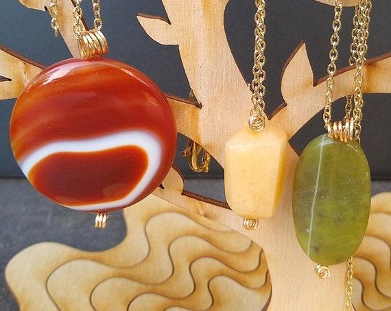 Semi-precious stone pendants