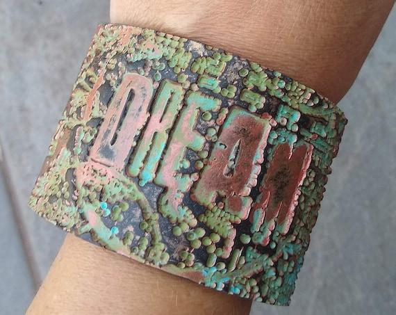 DREAM polymer clay cuff bracelet