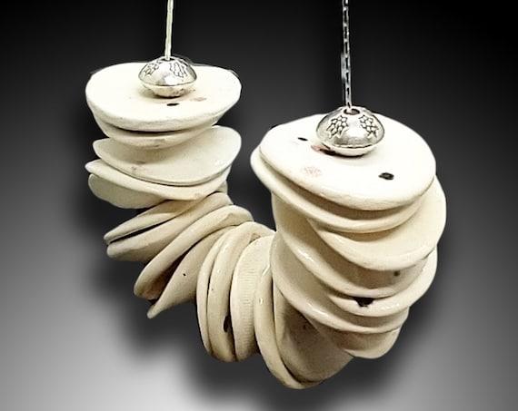 White ceramic necklace