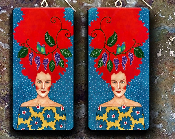 LIMITED SERIES Shiny happy people polymer clay earrings