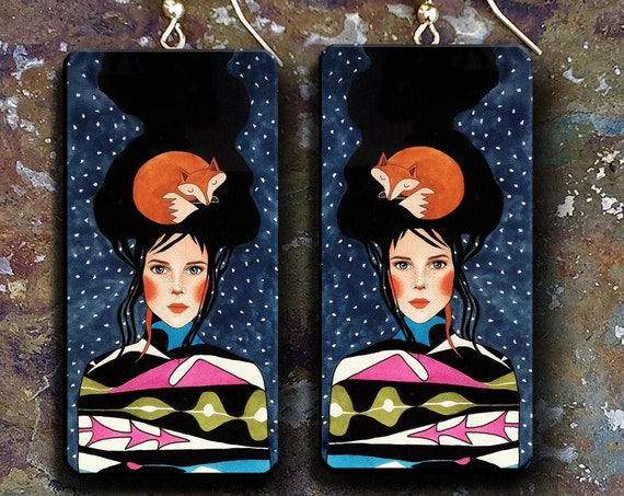 LIMITED Shiny happy people polymer clay earrings