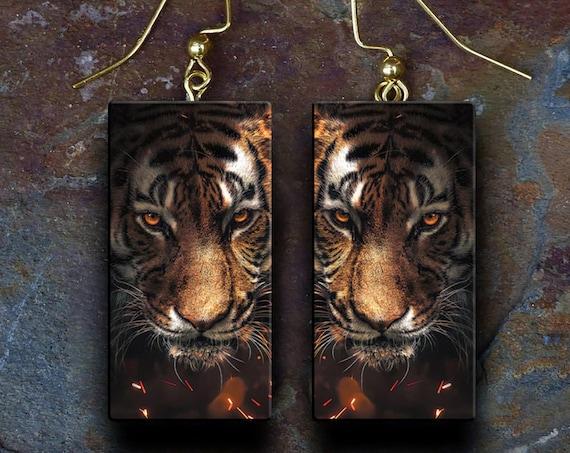 Wild polymer clay earrings