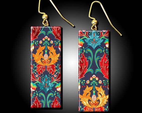 Paisley polymer clay earrings