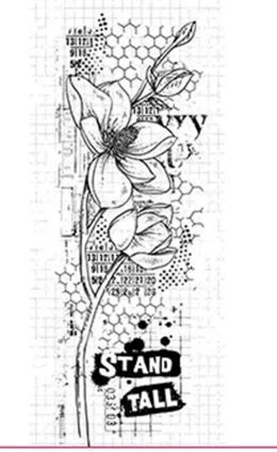 Meadow background creativity clear stamp