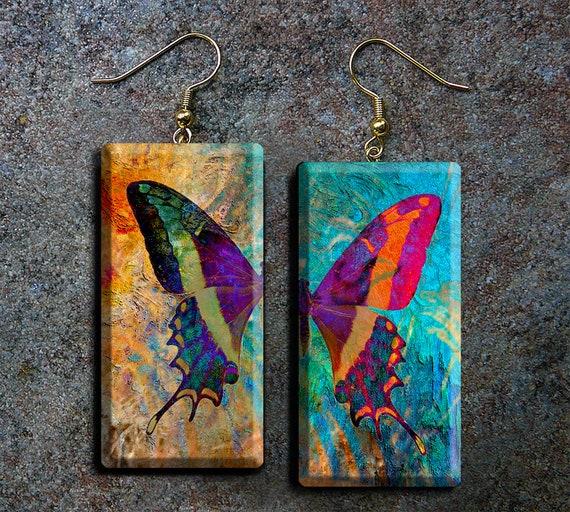 Butterfly polymer clay earrings