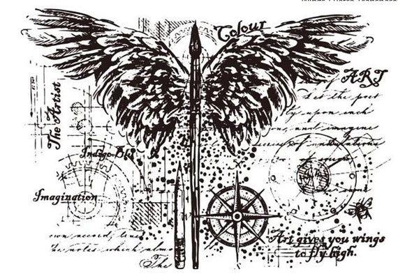 On the wings of creativity clear stamp