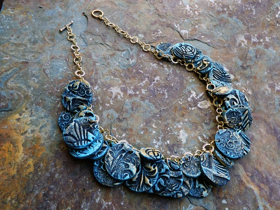 Thracian goddess polymer clay necklace