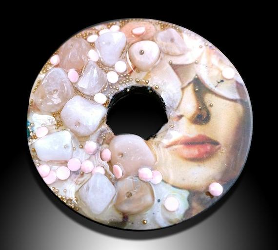 Donut Polymer clay pendant