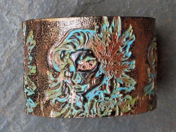 Shenandoah polymer clay cuff bracelet