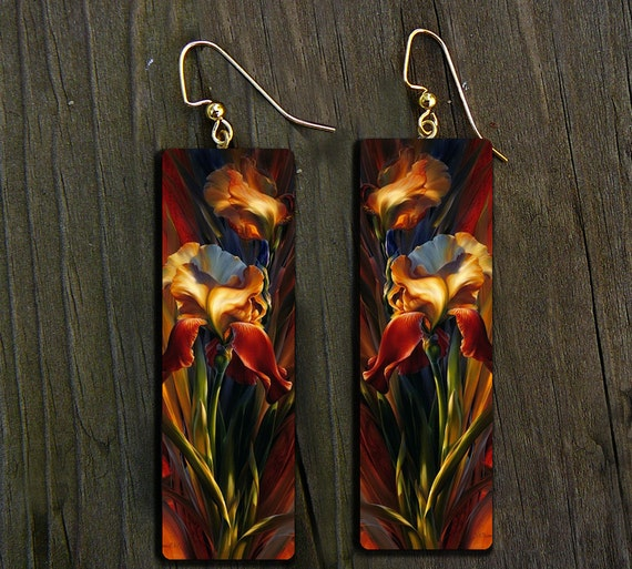 LIMITED Irises polymer clay earrings
