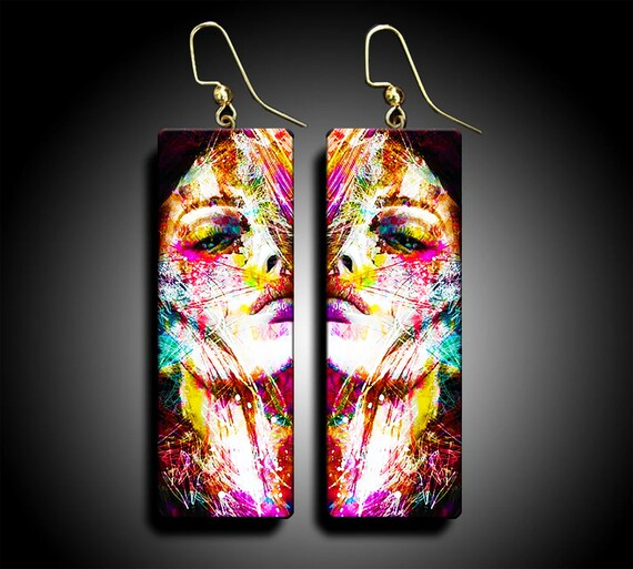 Limited Polymer clay dangle earrings limited edition