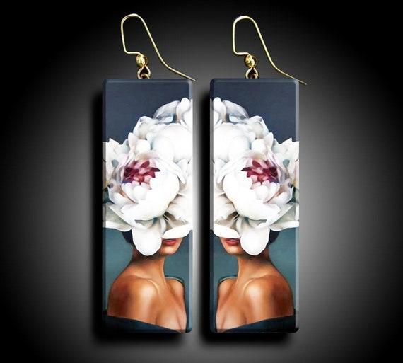 Fashion art polymer clay earrings