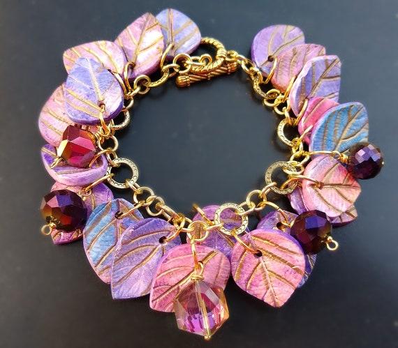 Pastel leaves bracelet