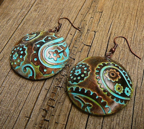 Perfectly paisley polymer clay earrings