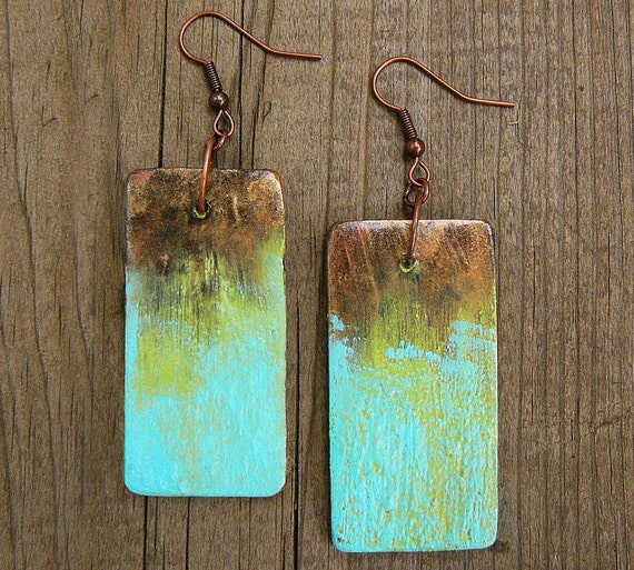 SALE Mixed media and polymer clay earrings