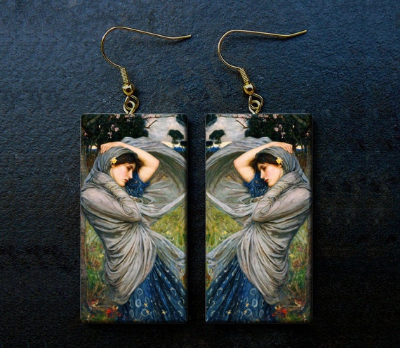 Boreas polymer clay dangle earrings limited edition