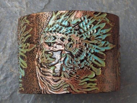 Aiyana polymer clay cuff bracelet