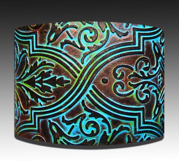 Patina polymer clay cuff bracelet