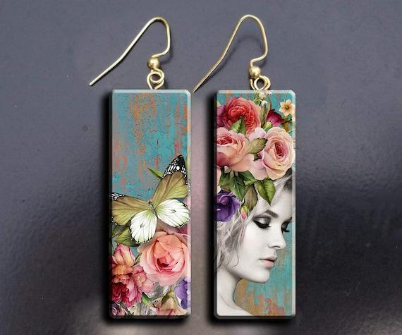 Fantasy polymer clay earrings