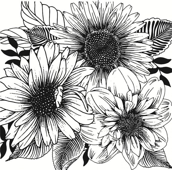 Daisies  silicone clear stamp