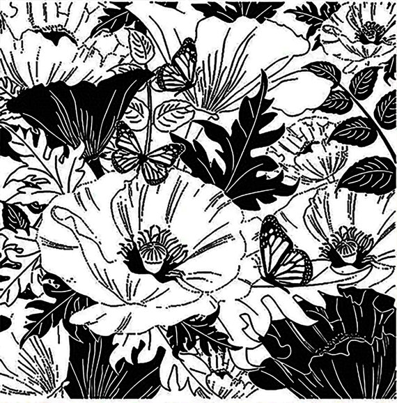 Meadow flowers  silicone clear stamp