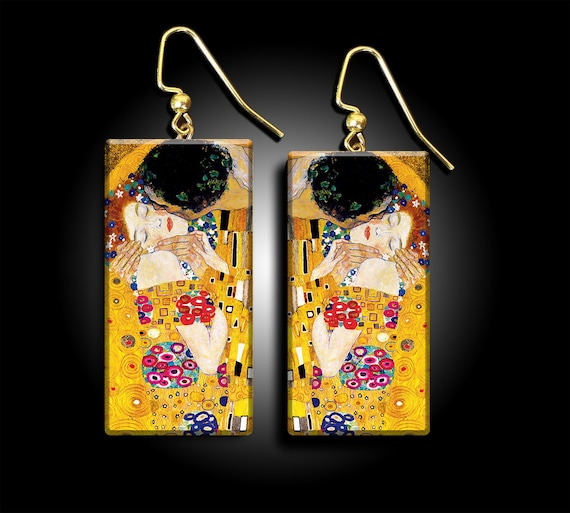 Klimt'sThe Kiss polymer clay earrings - limited