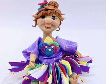 Gently Posable FAIRY Doll - Girl Mixed Media Figurine