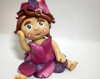 Polymer Clay Petal Fairy Figurine