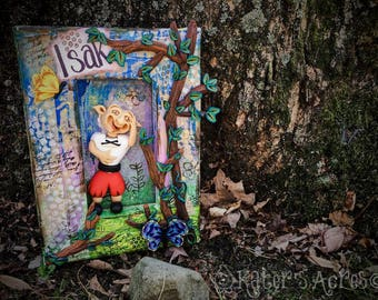 ISAK Schrume - TROLL Doll Collectible Shadow Box CANVAS, The Schrumes Collection