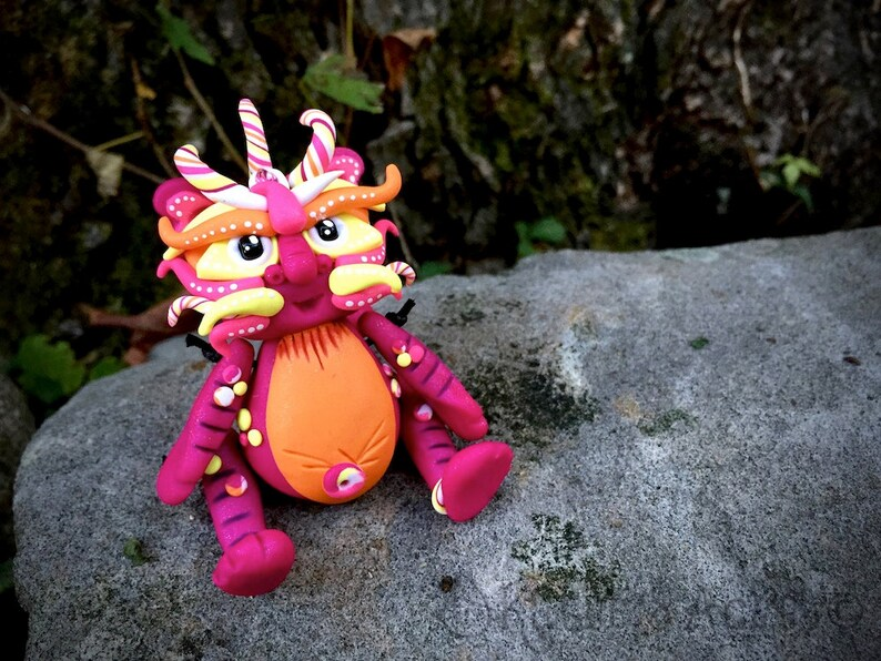Polymer Clay Dragon 'Bristol' Inspired by Chinese image 0