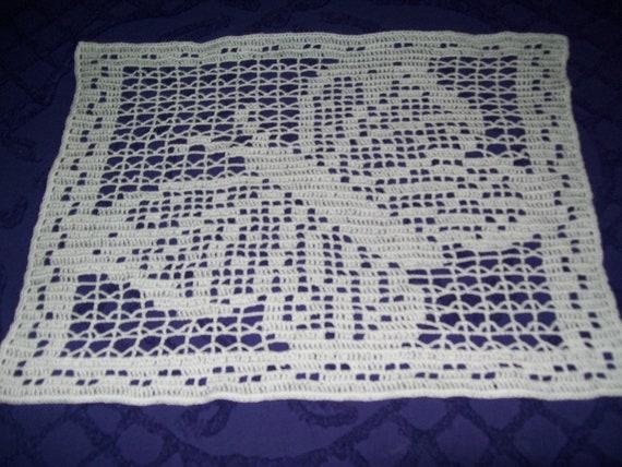 Schmetterling-Deckchen in Filet häkeln | Etsy
