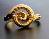 Octopus Ring Solid Gold tentacle spiral twirl ring made in NYC Blue Bayer Design