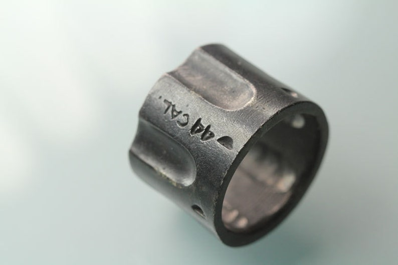 Pistol Ring 44 cal Cylinder Ring Gun Ring Gun Jewelry in image 0
