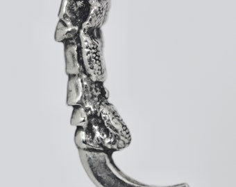 Raven Claw in sterling silver thick silver wheat chain made in NYC