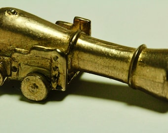 Cannon Cigarette Holder Pipe Necklace  cast in solid bronze made in NYC