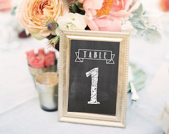 Chalkboard Table Numbers Printable 4x6 PDF Instant Download Rustic Shabby Chic Woodland Numbers 1-20