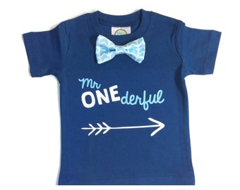 Mr Onederful Shirt. Boys First Birthday Shirt. Baby Boy 1st Birthday. 1st Birthday Outfit. Mr Wonderful. One Number Shirt.
