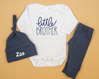 Big Brother Little Brother Coming Home Outfit Super Brother Trusty Sidekick Superhero Mask Organic Pants Hat Pregnancy Announcement