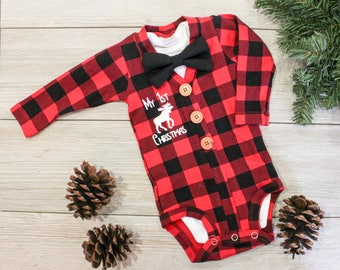 buffalo plaid cardigan baby boy christmas outfit buffalo plaid baby outfit newborn boy baby lumberjack 1st first christmas moose