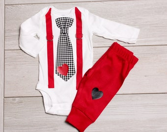 9053e4b015b5 Baby Boy Valentine s Day Outfit WITH pants. For Baby Boy