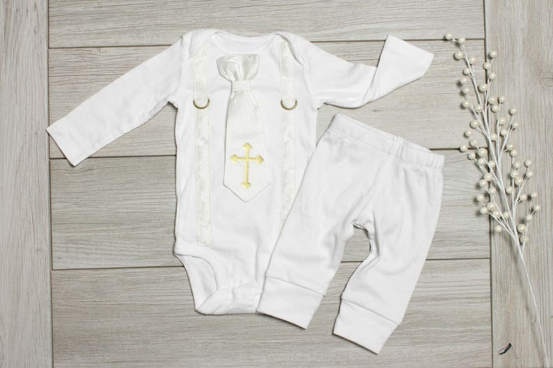 7bd86ba24 Baby Boy Silk Baptism / Christening Outfit. All white and gold | Etsy