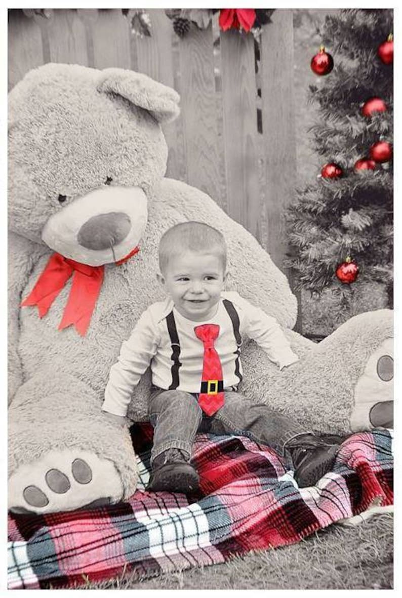 Santa Tie and Suspender Bodysuit Outfit. Pants and ...
