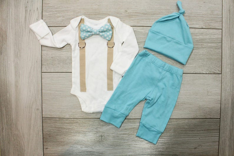 e3ec0733f4e9 Baby Boy Coming Home Outfit. Newborn hospital outfit. Boy