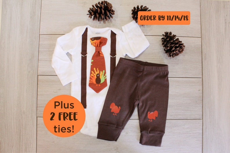 2fd280d4f Baby Boy Thanksgiving Set with Pants. Newborn Boy 1st | Etsy