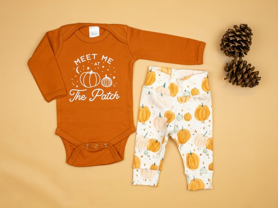 Pumpkin Patch Outfit For Babies Baby Boy Or Baby Girl Meet Me At The Patch Fall Clothes Infant Newborn Toddler Pumpkin Shirt By Cuddle Sleep Dream Catch My Party