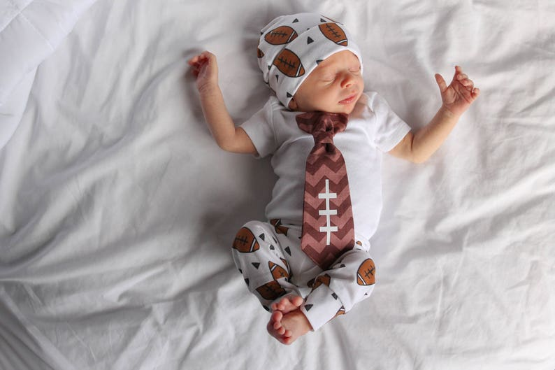 b0676dcfeee3 Football Coming Home Outfit Boy. Newborn boys going home