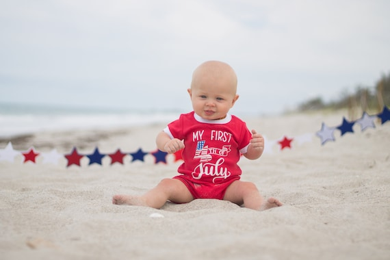 9ec53ce046a4 4th of July Baby Boy ROMPER. One piece. Patriotic boy clothes. Baby boy 4th  of July Outfit. 1st 4th of July. Red white and blue.