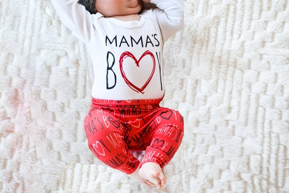 Baby Boy Valentines Day Outfit Mama S Boy Shirt Mother S Day