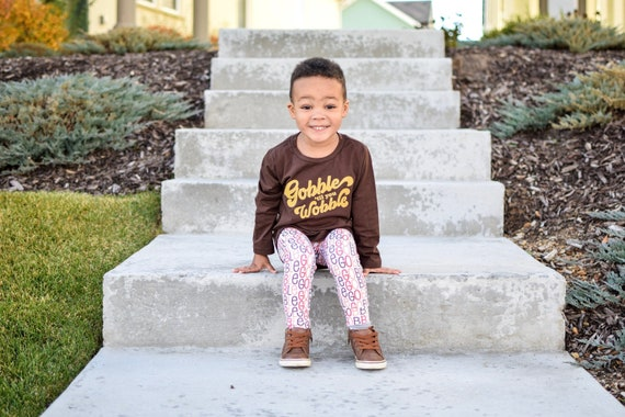 c45a99d03 Toddler Boy Thanksgiving Shirt. Gobble til you Wobble Outfit. 18m 2t 3t 4t  Funny baby boy thanksgiving outfit. Gobble Leggings. Retro